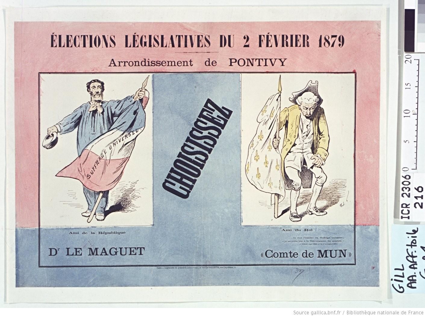 propagande électorale en 1879